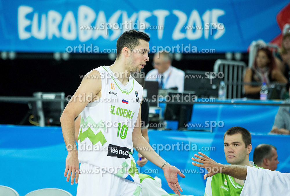 Mitja Nikolic of Slovenia during basketball match between Slovenia vs Netherlands at Day 4 in Group C of FIBA Europe Eurobasket 2015, on September 8, 2015, in Arena Zagreb, Croatia. Photo by Vid Ponikvar / Sportida