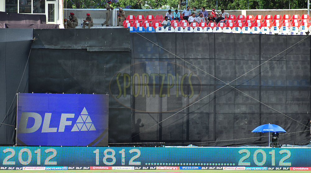 Side screen during match 33 of the the Indian Premier League ( IPL) 2012  between The Kings X1 Punjab and The Mumbai Indians held at the Punjab Cricket Association Stadium, Mohali on the 25th April 2012..Photo by Arjun Panwar/IPL/SPORTZPICS