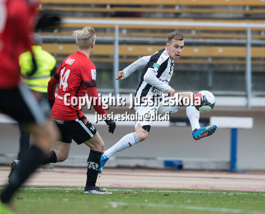 Juri Kinnunen. TPS - Inter. 1. osaottelu, karsinta. Veikkausliiga. Ykkönen. Turku. 26.10.2016. Photo: Jussi Eskola