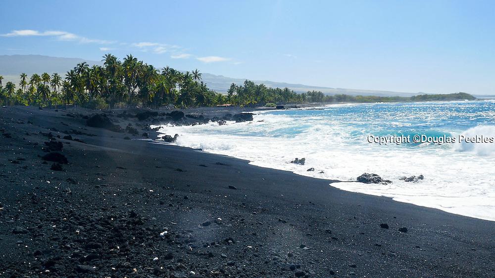 Keawaiki Bay, Black Sand Beach, Kohala Coast, Island of Hawaii