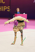 Axle Javelin, France, during the 33rd European Rhythmic Gymnastics Championships at Papp Laszlo Budapest Sports Arena, Budapest, Hungary on 20 May 2017. Photo by Myriam Cawston.