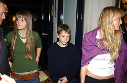 Left to right, LADY CHARLOTTE WELLESLEY, LORD FREDERICK WELLESLEY and LADY MARY WELLESLEY at a party to celebrate the 21st year of Hackett held at their store in Sloane Street, London on 26th October 2004.<br /><br />NON EXCLUSIVE - WORLD RIGHTS