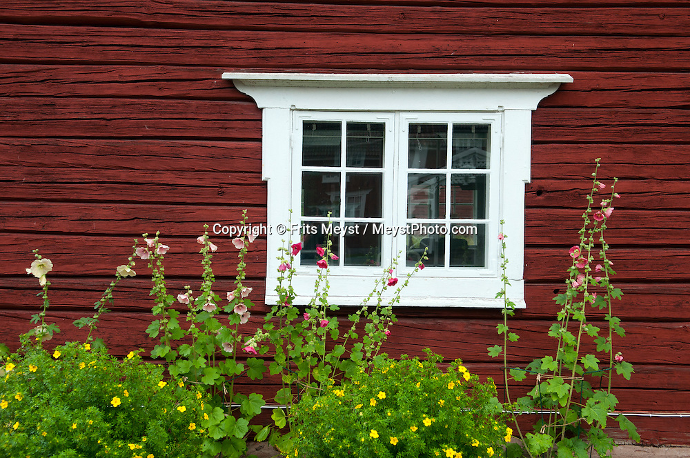"Bonan, Gavleborg, Central Sweden, August 2013. Bönan is a genuine fishing village with many trappings from the 1800's. At the turn of the century the fishing village changed considerably becoming increasingly a summer paradise for Gävle's wholesale merchants who lived here in their magnificent houses. Many of these old houses still remain and the most magnificient of them all, Engeltofta, has become a popular restaurant. Since the middle of the '50's fishing has continuously decreased in importance and nowadays only a handful of professional fishermen remain in Bönan. You can however, still buy the renowned ""böcklingen"", smoked herring, from the fishermen in the village. There are also a little café and a handicrafts shop in Bönan. The extensive forests dotted with hundreds of lakes of a spectacular landscape for wilderness camping. hike through the forests picking berries and collecting mushrooms, see moose and track bears and wolves. Navigate the lakes in a canoe and catch trout and salmon with a fly rod and see beavers.  Gavleborg and Dalarna regions are bursting with adventure. Photo by Frits Meyst/Adventure4ever.com"