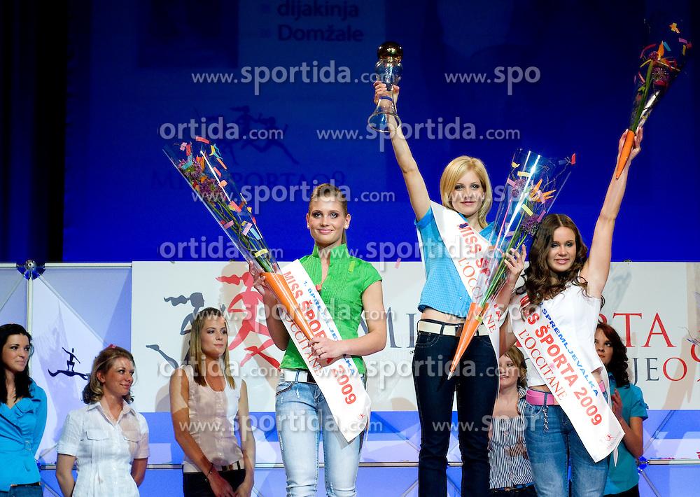 Lorina Smolnikar, Ajda Sitar and Amadeja Teraz at event Miss Sports of Slovenia, on April 18, 2009, in Festivalna dvorana, Ljubljana, Slovenia. (Photo by Ales Oblak / Sportida)