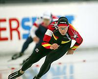 Skøyter, 9. november 2002. Verdenscupåpning, Vikingskipet, Christian Breuer, Tyskland.