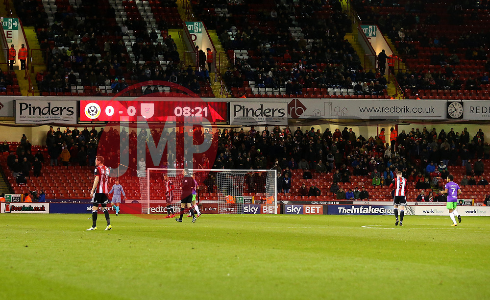 Bristol City fans at Sheffield United (lower tier) - Mandatory by-line: Robbie Stephenson/JMP - 08/12/2017 - FOOTBALL - Bramall Lane - Sheffield, England - Sheffield United v Bristol City - Sky Bet Championship