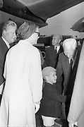 25/08/1963<br /> 08/25/1963<br /> 25 August 1963<br /> Royal Visit by Prince Rainier and Princess Grace of Monaco. The Royal family arrive at Dublin Airport.  Princess Grace and Prince Albet being greeted on the tarmac at Dublin Airport.