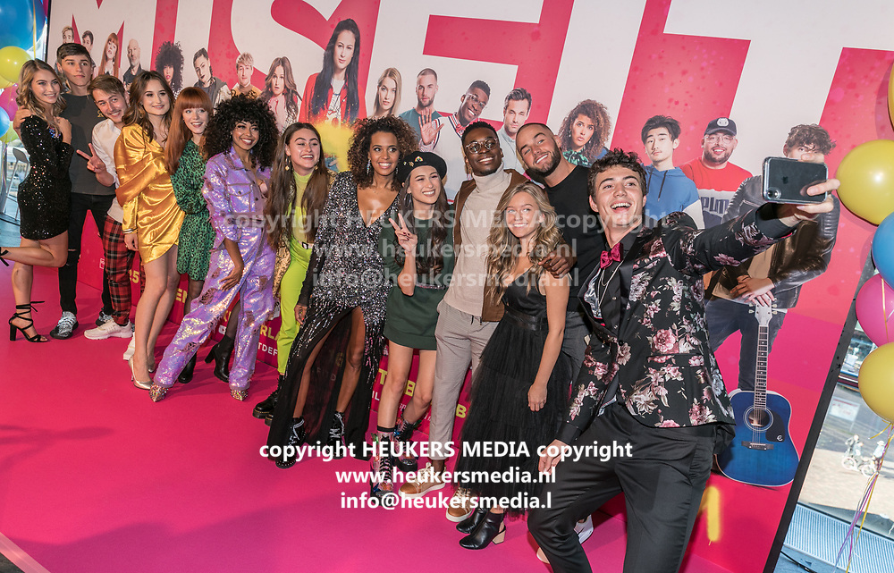 2019, September 20. Pathe ArenA, Amsterdam, the Netherlands. The cast at the premiere of Misfit 2.