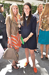 Left to right, HOLLY ADCOCK and ALICE DEEN at a ladies lunch at Toto's, Walton Street, London on 12th June 2014.