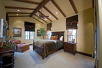 Spacious bedroom interior of luxury mansion