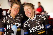 Ariane Kleinhans (left) and Annika Langvad (right) happy after winning stage 3 of the 2014 Absa Cape Epic Mountain Bike stage race held from Arabella Wines in Robertson to The Oaks Estate in Greyton, South Africa on the 26 March 2014<br /> <br /> Photo by Greg Beadle/Cape Epic/SPORTZPICS