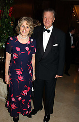 SIR MICHAEL & LADY ANGELA OSWALD at the 2004 Cartier Racing Awards in association with the Daily Telegraph, held at the Four Seasons Hotel, London on 17th November 2004.<br />