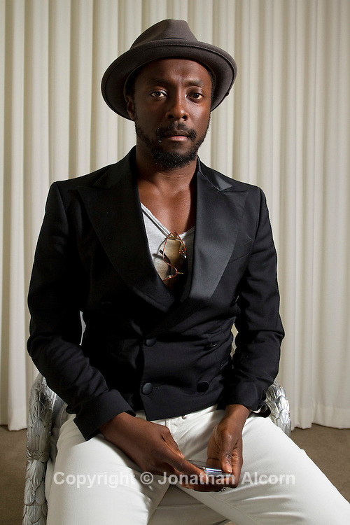 Will.i.am, founder of the pop group the Black Eyed Peas, sits for a portrait session at TheWrap's media leadership conference, TheGrill, at the SLS Hotel in Beverly Hills.