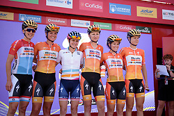 Boels Dolmans sign in for the final UCI Women's WorldTour race of the season at Madrid Challenge by La Vuelta an 87km road race in Madrid, Spain on 11th September 2016.