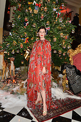ERIN O'CONNOR at a party to celebrate the unveiling of the 2014 Claridge's Christmas tree by Dolce & Gabbana at Claridge's, Brook Street, London on 19th November 2014.
