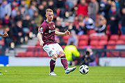Oliver Bozanic (#7) of Heart of Midlothian FC plays a pass during the William Hill Scottish Cup semi-final match between Heart of Midlothian and Inverness CT at Hampden Park, Glasgow, United Kingdom on 13 April 2019.