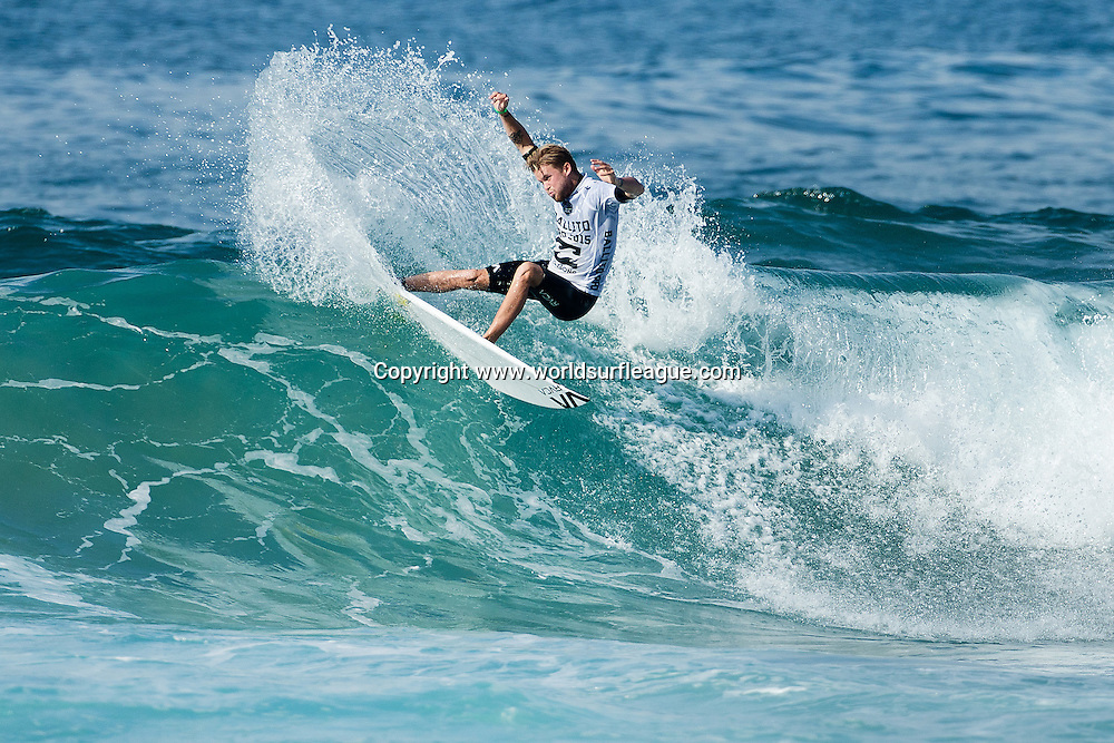 Davey Cathels of Australia (pictured) advanced into the Quarter Finals of The Ballito Pro Presented by Billabong after winning both his Round 3 and 4 heats at Ballito, South Africa today.<br /> <br /> IMAGE CREDIT: WSL / Ballito Pro / Cestari<br /> PHOTOGRAPHER: Kelly Cestari<br /> SOCIAL MEDIA TAG: @wsl @theballitopro @kc80<br /> <br /> The Ballito Pro Presented by Billabong is an international surf and lifestyle event hosted in Ballito, the jewel of KwaZulu-Natal's North Coast.  This event is a strategic partnership between World Surf League (WSL) and the KwaDukuza Municipality, together with various public and private sector partners<br /> <br /> In 2015 Billabong took the baton from Mr Price, agreeing to carry on the proud legacy of the world's longest running progressional surfing event as it enters its 47th year.<br /> <br /> The festival runs from June 28 to July 5 and with over 10 000 visitors enjoying festivities last year 2015 promises to be bigger and better than ever and anticipates record numbers.<br /> <br /> View the event live at www.theballitopro.com.