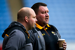 Wasps Director of Rugby Dai Young and Wasps Team Manager Dave Bassett - Mandatory by-line: Robbie Stephenson/JMP - 23/11/2019 - RUGBY - Ricoh Arena - Coventry, England - Wasps v Agen - European Rugby Challenge Cup
