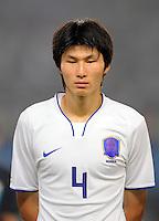 Olympia 2008  Peking  Fussball  Maenner   10.08.2008 Italien - Korea Min Soo KANG (KOR), Portraet.