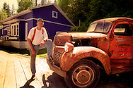 Telegraph Cove, Vancouver Island, British Columbia, August 2006. Gordie Graham of the Telegraph Cove Resort, is a fine fisherman and fishing guide. the tiny hamlet of Telegraph Cove is a paradise for salmon and halibut fishing, as well as one of the best places in the world to join a whale watching tour to see the orca Killer Whales. Photo by Frits Meyst/Adventure4ever.com