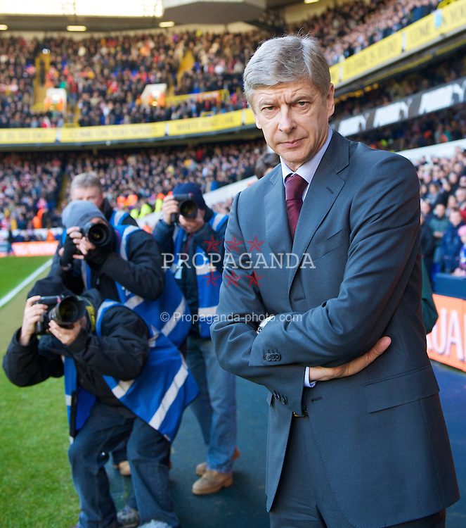 LONDON, ENGLAND - Sunday, February 8, 2009: Arsenal's manager Arsene Wenger before the Premiership match against Tottenham Hotspur at White Hart Lane. (Mandatory credit: David Rawcliffe/Propaganda)