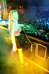 DJ Nicole Baldwin no espaço Madam Club do Planeta Atlântida 2013/RS, que acontece nos dias 15 e 16 de fevereiro na SABA, em Atlântida. FOTO: Marcos Nagelstein/Preview.com