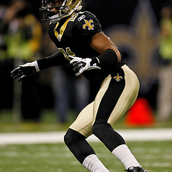 January 1, 2012; New Orleans, LA, USA; New Orleans Saints cornerback Patrick Robinson (21) against the Carolina Panthers during the second quarter of a game at the Mercedes-Benz Superdome. Mandatory Credit: Derick E. Hingle-US PRESSWIRE