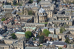 © under license to London News Pictures.  07/04/2011. An aerial view of Oxford City in Oxfordshire, England.