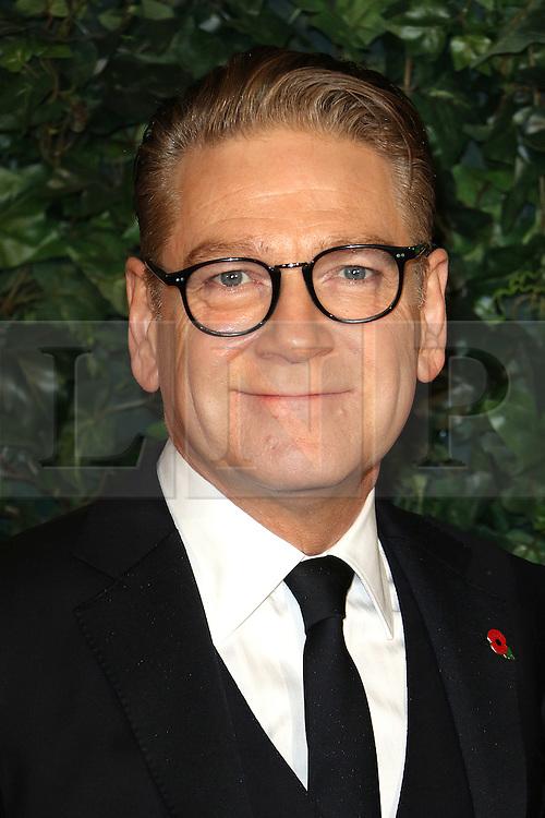 © Licensed to London News Pictures. 13/11/2016. London, UK, Kenneth Branagh, Evening Standard Theatre Awards, Photo credit: Richard Goldschmidt/LNP