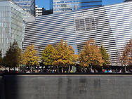 The 911 Memorial and museum at Battery Park City