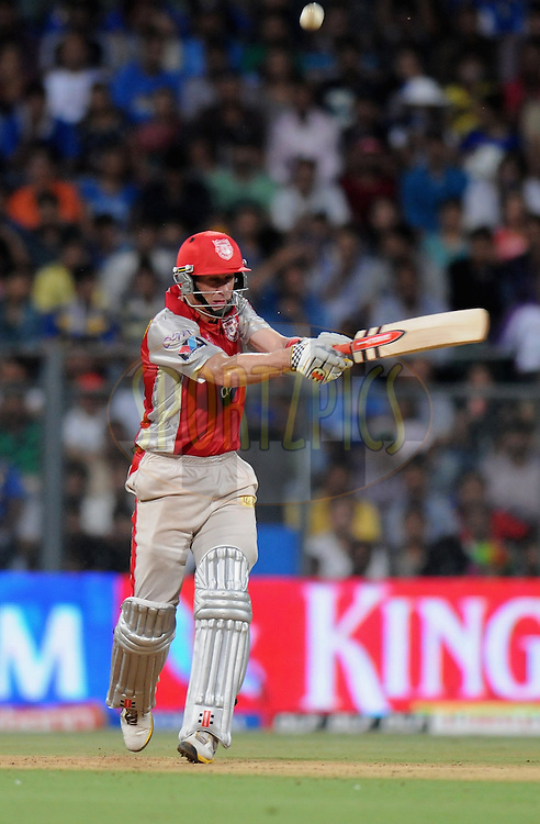 David Hussey of Kings XI Punjab bats during match 28 of the Indian Premier League ( IPL) 2012  between The Mumbai Indians and the Kings X1 Punjab held at the Wankhede Stadium in Mumbai on the 22nd April 2012..Photo by Pal Pillai/IPL/SPORTZPICS..