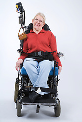 Portrait of a woman with Cerebral Palsy,