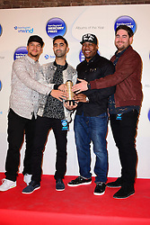 Mercury Prize. <br /> Rudimental attends the Barclaycard Mercury Prize at The Roundhouse, London, United Kingdom. Wednesday, 30th October 2013. Picture by Nils Jorgensen / i-Images