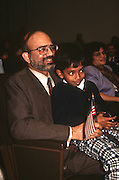 A immigrant family at their naturalization ceremony November 12, 1996 in Washington, DC.