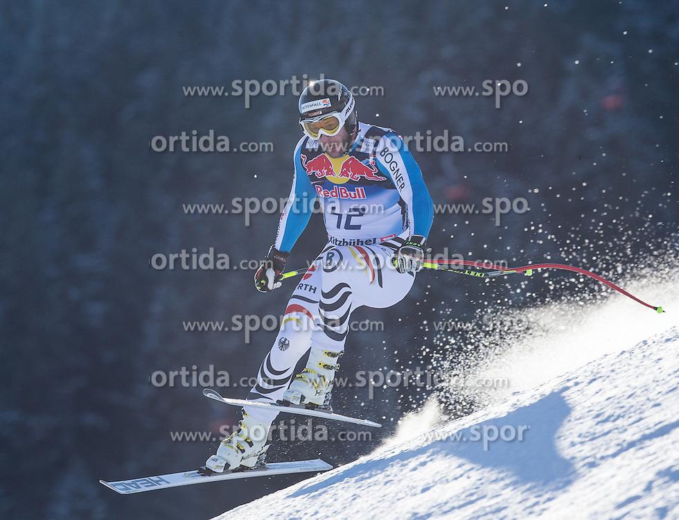 23.01.2013, Streif, Kitzbuehel, AUT, FIS Weltcup Ski Alpin, Abfahrt, Herren, 2. Training, im Bild Stephan Keppler (GER) // Stephan Keppler of Germany in action during 2nd practice of mens Downhill of the FIS Ski Alpine World Cup at the Streif course, Kitzbuehel, Austria on 2013/01/23. EXPA Pictures © 2013, PhotoCredit: EXPA/ Johann Groder