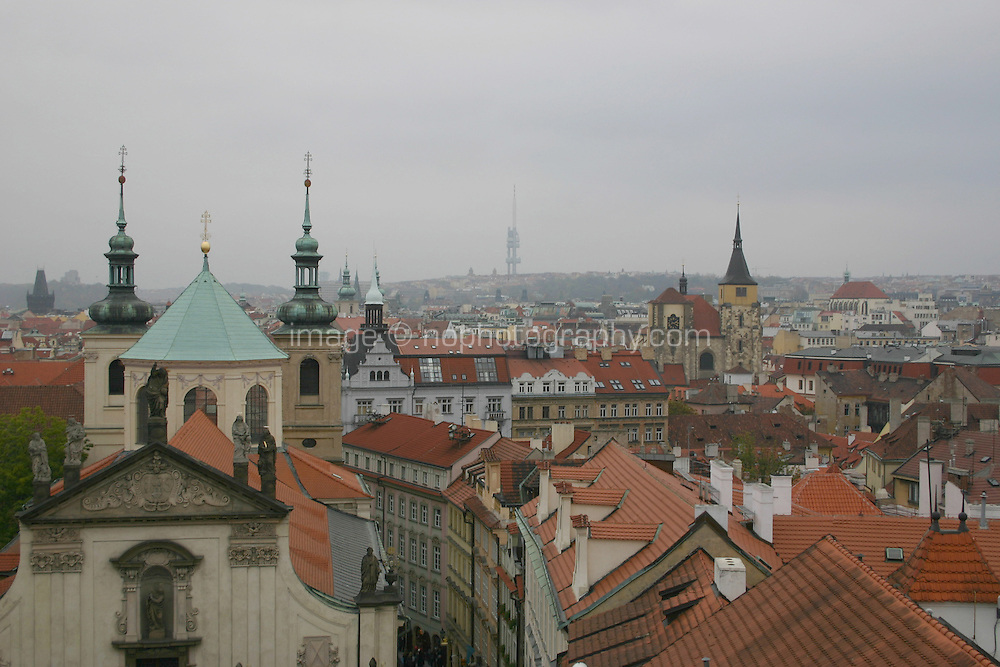 Rooftops over Prague city, Czech Republic<br />