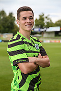 Jack Aitchison signs a contract with Forest Green Rovers at the New Lawn, Forest Green, United Kingdom on 2 September 2019.