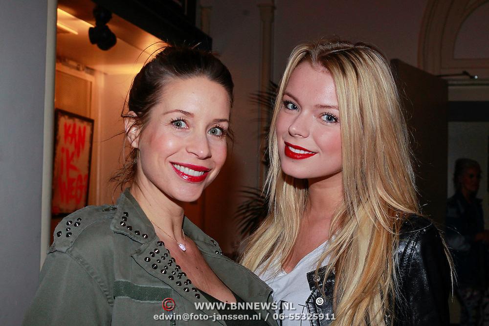 NLD/Amsterdam/20130404- Presentatie kledinglijn Rock & Roll Junkie van Lola Brood, Renee Vervoorn en vriendin
