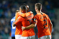 09-09-2019: Voetbal: Estland v Nederland: Tallinn<br /> Kwalificatieronde EK 2020<br /> <br /> L+R Steven Berghuis of The Netherlands and Memphis Depay of The Netherlands and Joel Veltman of The Netherlands<br /> <br /> Foto: Dijks Fotografie / Henk Jan Dijks<br /> <br /> Foto: Henk Jan Dijks