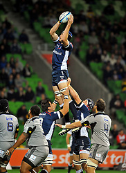 Hugh Pyle (Rebels).Melbourne Rebels v The Hurricanes.Rugby Union - 2011 Super Rugby.AAMI Park, Melbourne VIC Australia.Friday, 25 March 2011.© Sport the library / Jeff Crow