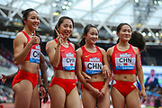 3rd placed China, after the Women's 4x100m Relay during the Muller Anniversary Games 2019 at the London Stadium, London, England on 20 July 2019.