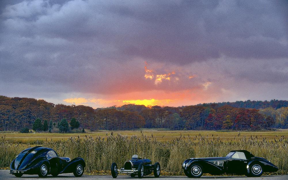 1933 Bugatti Type 59 Grand Prix<br /> 1937 Bugatti Type 57SC Grangloff<br /> 1938 Bugatti 57SC Atlantic