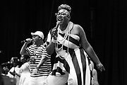 Aja Graydon of Kindred The Family Soul performs during Summer Spirit Festival 2018 at Merriweather Post Pavilion in Columbia, MD on Sunday, August 5, 2018.