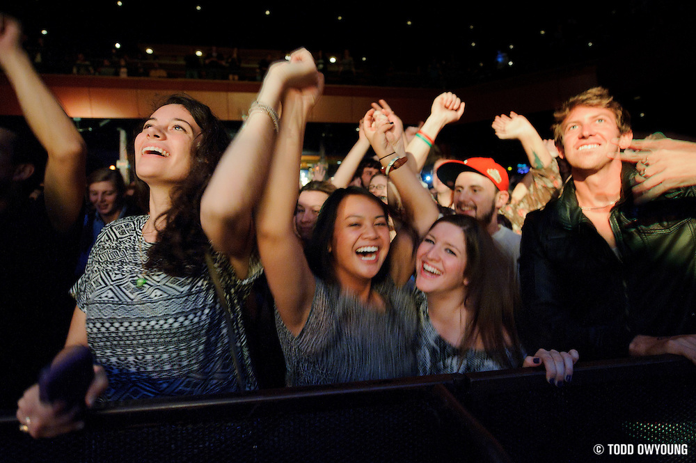 Fans during Chromeo's performance at the Pageant on October 24, 2011.