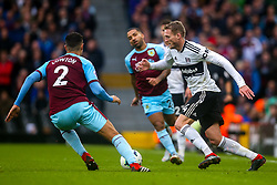 Andre Schurrle of Fulham takes on Matthew Lowton of Burnley - Mandatory by-line: Robbie Stephenson/JMP - 26/08/2018 - FOOTBALL - Craven Cottage - Fulham, England - Fulham v Burnley - Premier League