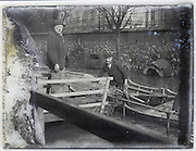 evacuation from houseboat during flooding of the Seine River, Paris January 1910