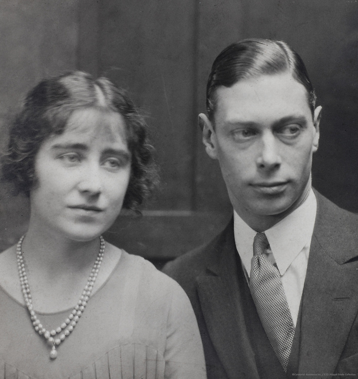 Royal Family: King George VI, H.R.H. Duke of York and Lady Elizabeth Bowes Lyon, England, UK, 1923