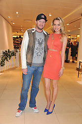 SCOT YOUNG and NOELLE RENO at the launch of the new John Lewis Beauty Hall, John Lewis, Oxford Street, London on 8th May 2012.