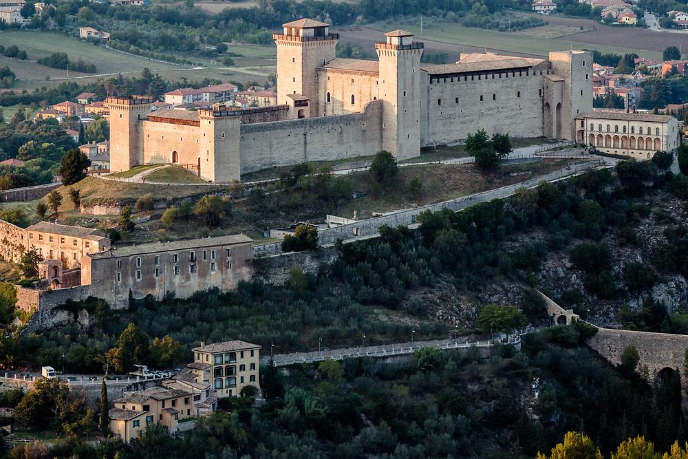 12 SEP 2015 - Spoleto (PG) - La Rocca Albornoziana e il ponte delle Torri.