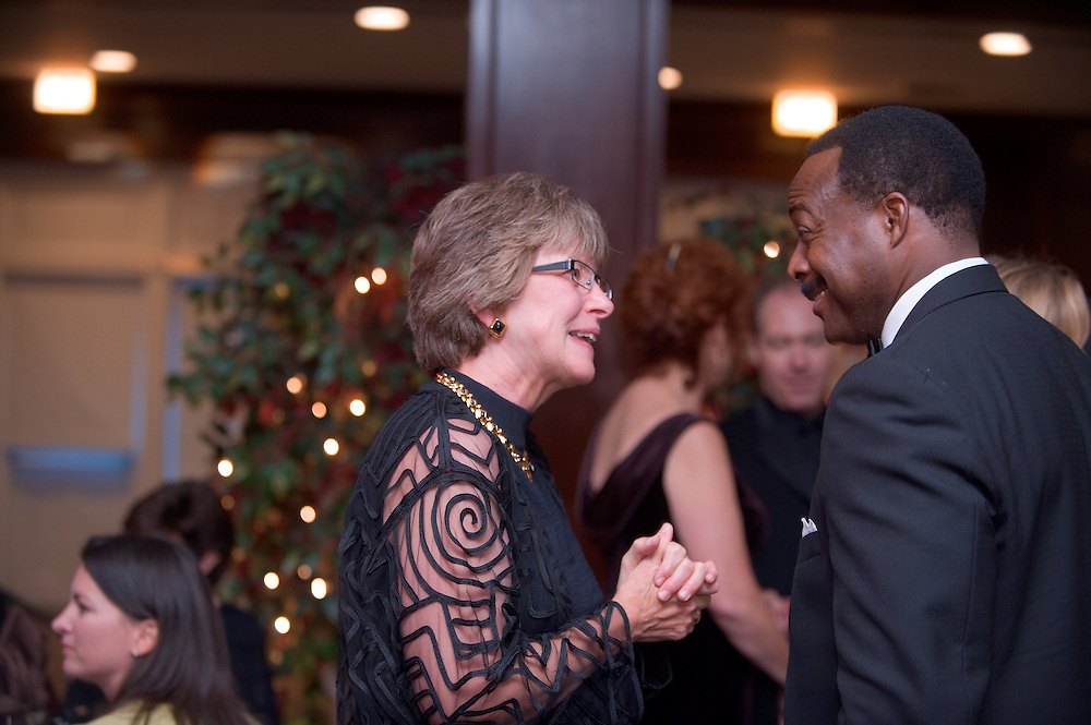 Homecoming 2008: Alumni Awards Gala 9/26/2008....Provost Krendl  & Leon M. Harris BSC'83(Distinguished Service award)